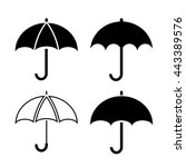 umbrella icons set vector... | Shutterstock .eps vector #443389576