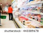 blur store shelves with goods | Shutterstock . vector #443389678