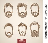 build your own man style macho... | Shutterstock .eps vector #443391232