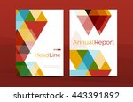 color business brochure cover... | Shutterstock .eps vector #443391892