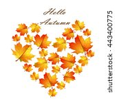"autumn leaves. postcard ""hello... 
