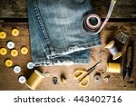 Blue Jeans And Sewing Tools Ki...