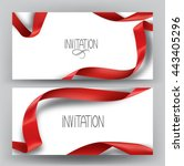 elegant invitation banners with ... | Shutterstock .eps vector #443405296