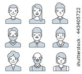 people icons set. team concept. ... | Shutterstock .eps vector #443405722