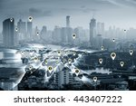 business concept  city scape... | Shutterstock . vector #443407222
