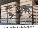 world international map... | Shutterstock . vector #443408326