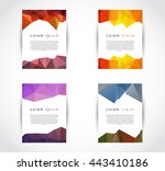 set collection of trendy... | Shutterstock .eps vector #443410186