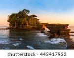 tanah lot temple in bali... | Shutterstock . vector #443417932