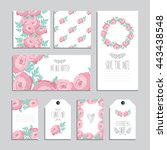 elegant cards and gift tags... | Shutterstock .eps vector #443438548