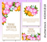 vintage delicate invitation... | Shutterstock .eps vector #443441818