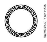 decorative round frame.... | Shutterstock .eps vector #443444635