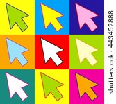 arrow sign. pop art style...