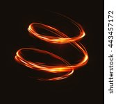 fire blurry circles at motion . ... | Shutterstock .eps vector #443457172
