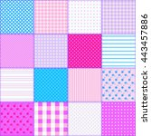 bright endless patchwork... | Shutterstock . vector #443457886