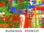 hand paint abstract background   Shutterstock . vector #44346115