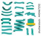 ribbon set | Shutterstock .eps vector #443467252