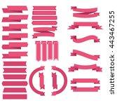 ribbon set | Shutterstock .eps vector #443467255