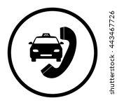 taxi    black vector icon | Shutterstock .eps vector #443467726