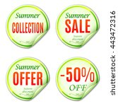 summer sale stickers or labels... | Shutterstock . vector #443472316