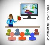 business analyst woman...   Shutterstock .eps vector #443477086
