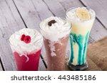 fresh milk  strawberry ... | Shutterstock . vector #443485186