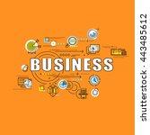 flat line design start for... | Shutterstock .eps vector #443485612