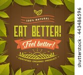 eat better   feel better ... | Shutterstock .eps vector #443486596
