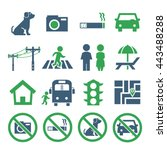 public city sign icon set | Shutterstock .eps vector #443488288