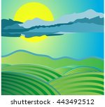 landscape background | Shutterstock .eps vector #443492512