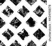 black and white grunge squares... | Shutterstock .eps vector #443498878