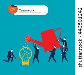 teamwork ideas. vector... | Shutterstock .eps vector #443501242