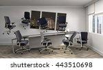 zero gravity in office interior.... | Shutterstock . vector #443510698