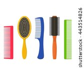 Hair Combs And Hairbrushes Set...