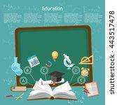 education infographics... | Shutterstock .eps vector #443517478