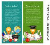 back to school banner education ... | Shutterstock .eps vector #443521312