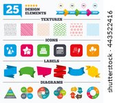 offer sale tags  textures and... | Shutterstock .eps vector #443522416