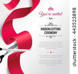 you are invited invitation card ... | Shutterstock .eps vector #443523898