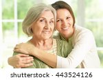 senior woman with daughter | Shutterstock . vector #443524126