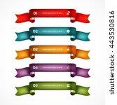 set of ribbons. infographic... | Shutterstock .eps vector #443530816