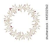 hand drawn merry christmas... | Shutterstock .eps vector #443532562