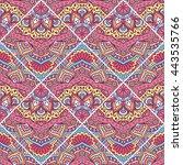 seamless pattern. vintage... | Shutterstock . vector #443535766