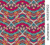 seamless pattern. vintage... | Shutterstock . vector #443535922