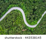 aerial view over mountain road... | Shutterstock . vector #443538145
