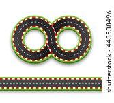 track road infinity  road... | Shutterstock .eps vector #443538496