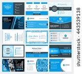 set of modern creative business ... | Shutterstock .eps vector #443539138