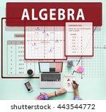 algebra mathematics calculation ... | Shutterstock . vector #443544772