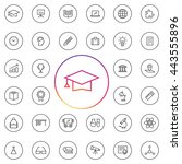 education icon set. contains... | Shutterstock .eps vector #443555896