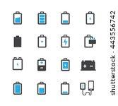 battery icons set vector | Shutterstock .eps vector #443556742