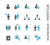 business icons set vector | Shutterstock .eps vector #443557228