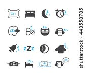 sleeping icons set  vector | Shutterstock .eps vector #443558785